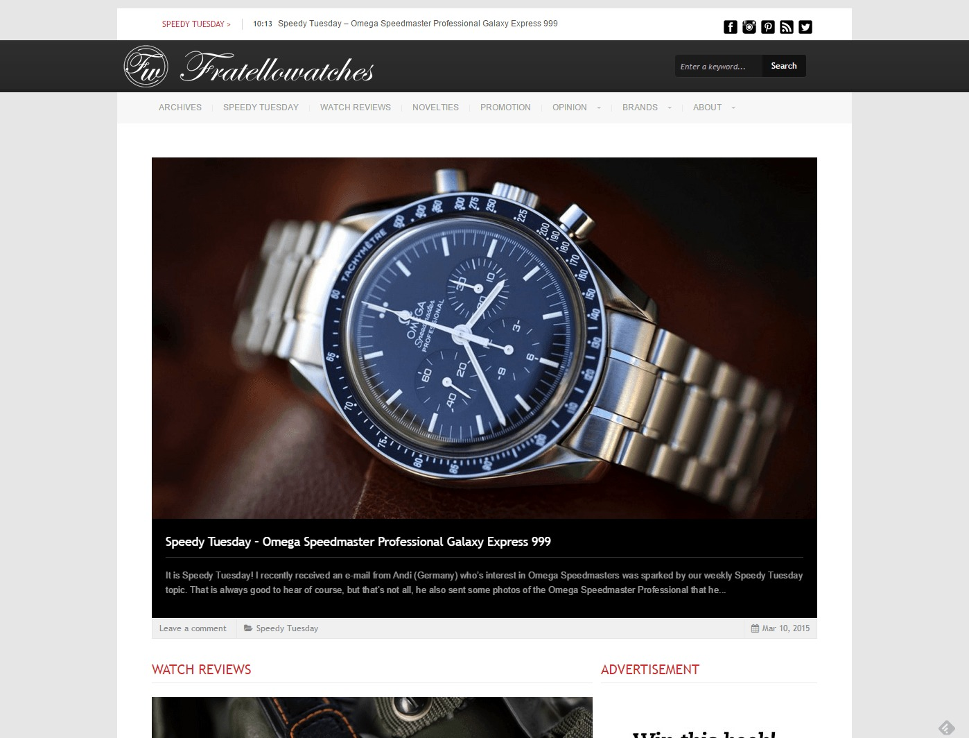 FratelloWatches Watch Reviews And Stories On Watches