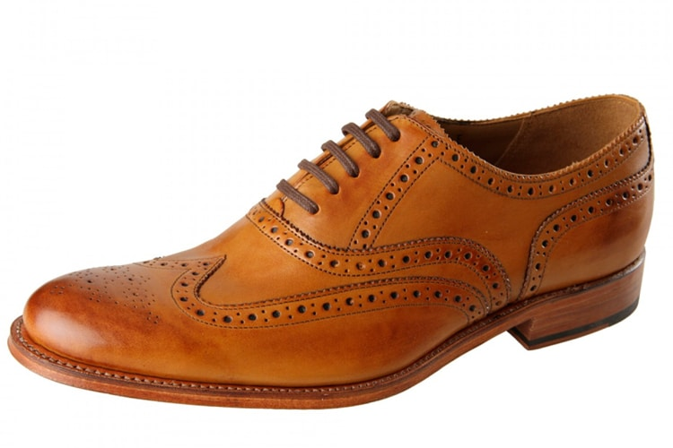 grenson dylan brogue men leather shoe