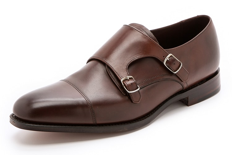 loake 1880 cannon monk men leather shoe