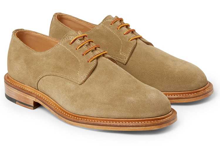derby men leather shoe