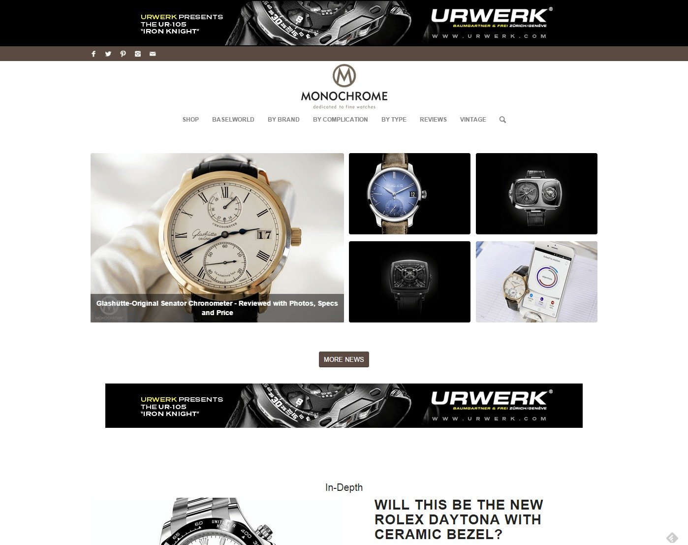 Monochrome Watches Dedicated to fine watches