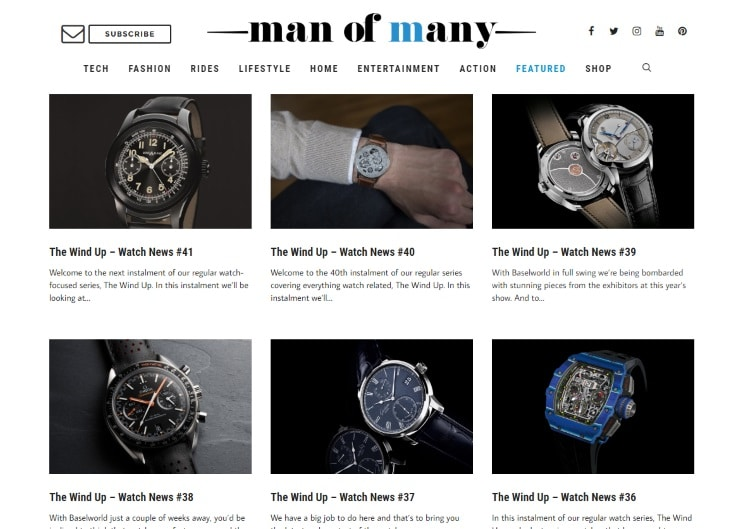 man of many collected all watch