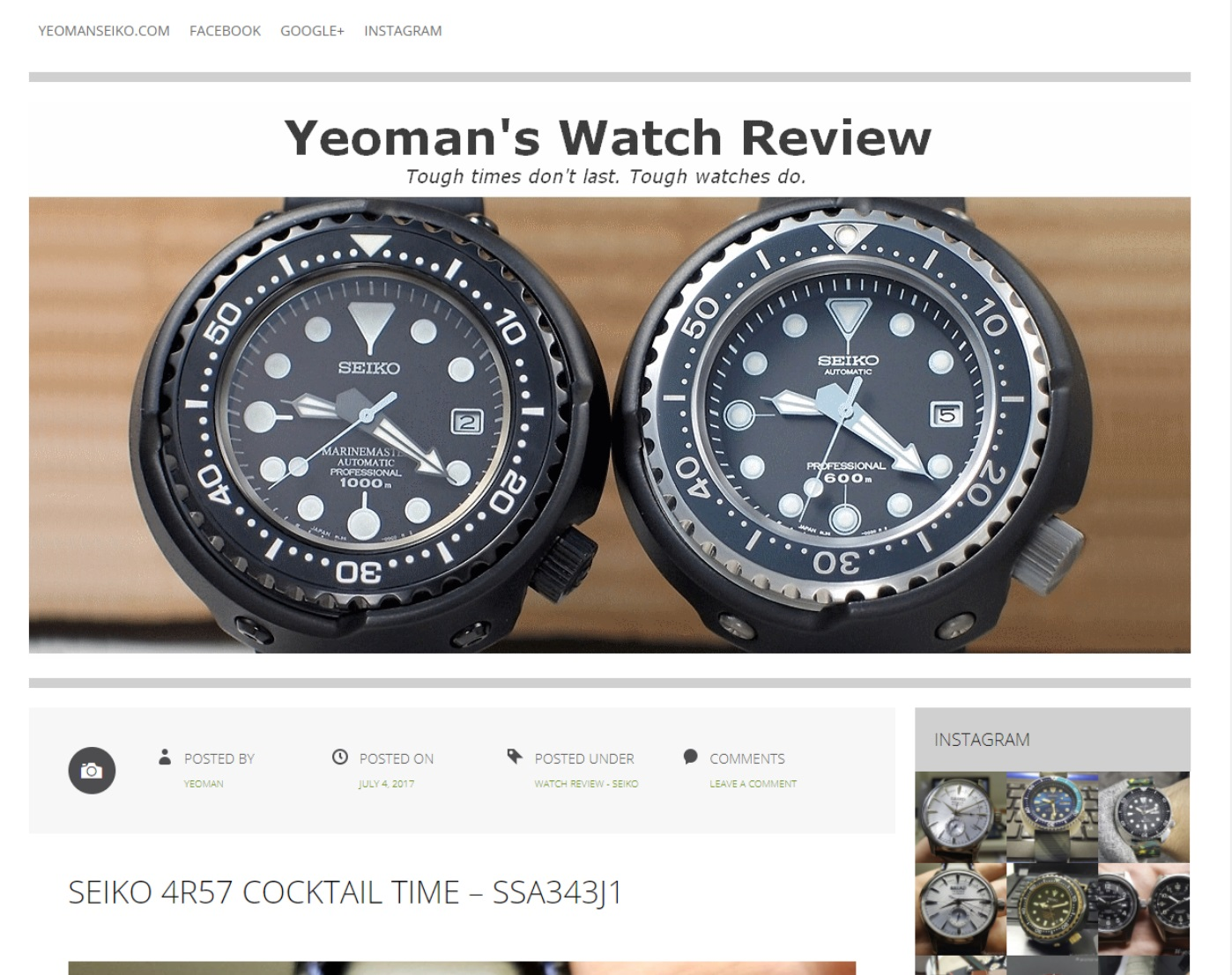 Fashion accessory blogs - Watchtime