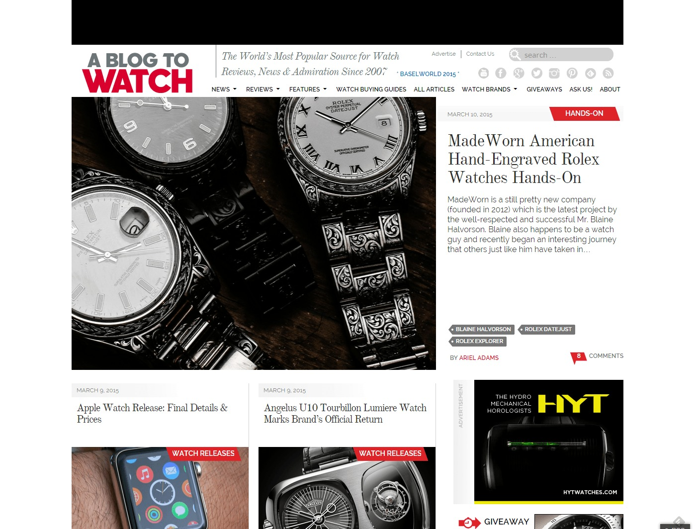 aBlogtoWatch World s Most Popular Watch Blog Watch Reviews Buying Guides News Discussion