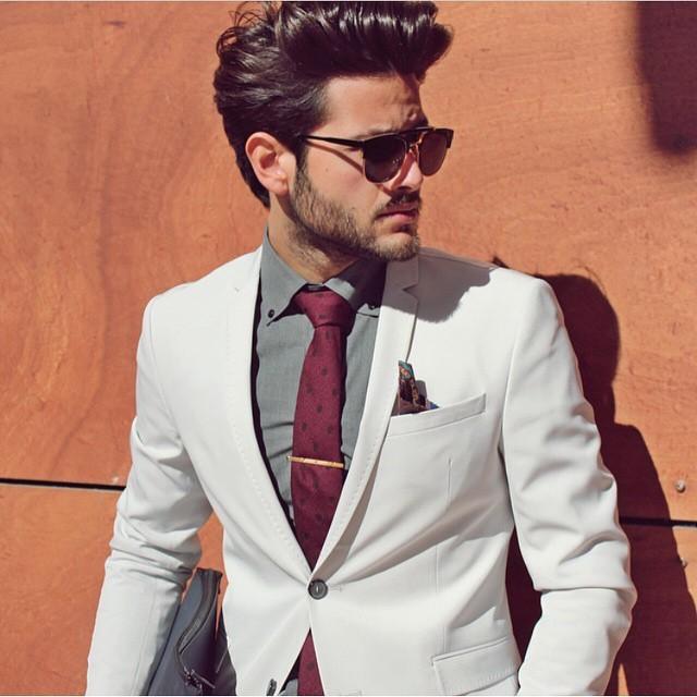 one two fade off white blazer