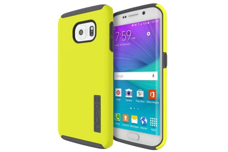 samsung s6 edge incipio yellow case