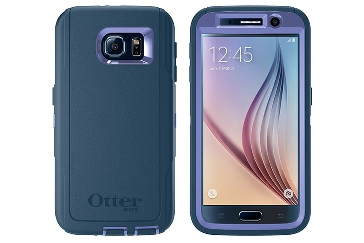 samsung s6 otterbox front and rear view