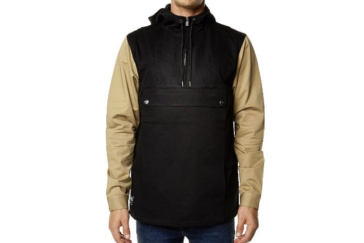 rpm outfield pullover men's jacket black beige