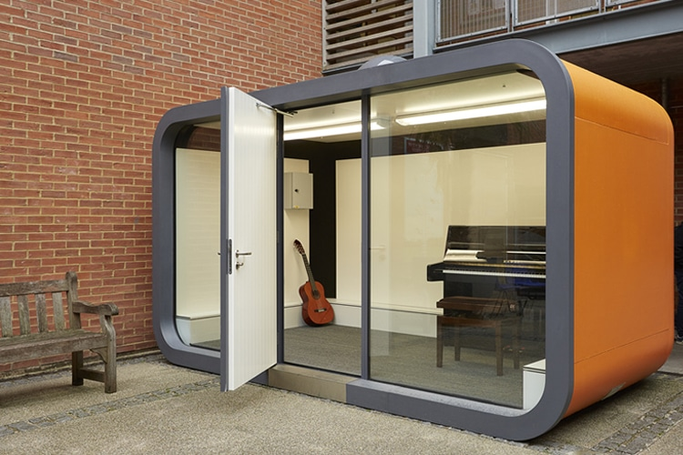 Office pods work from home without distraction man of many for Office from home
