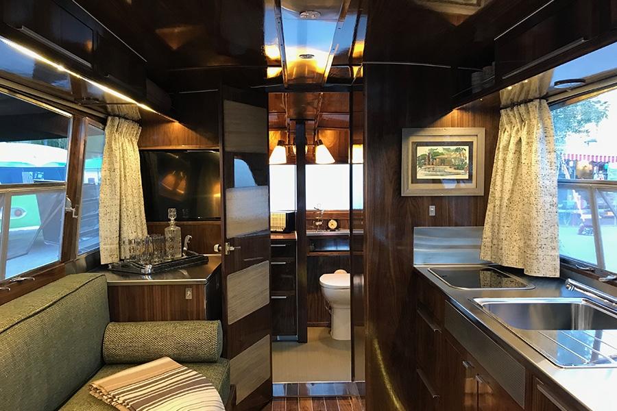 kitchen area trailer view