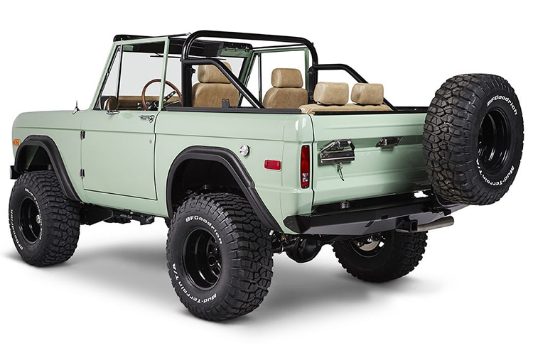 classic ford bronco back view