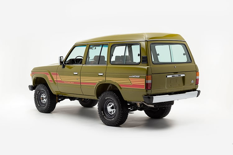 side view land cruiser 1986