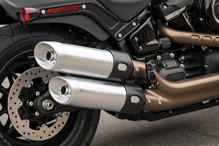 2018 harley davidson fat bob motorcycle silencer