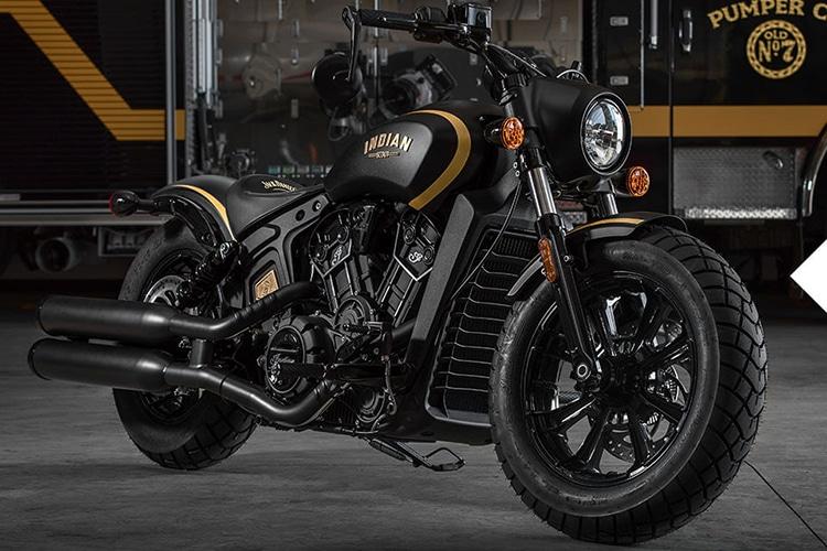 2018 indian scout bobber jack daniel motorcycle front