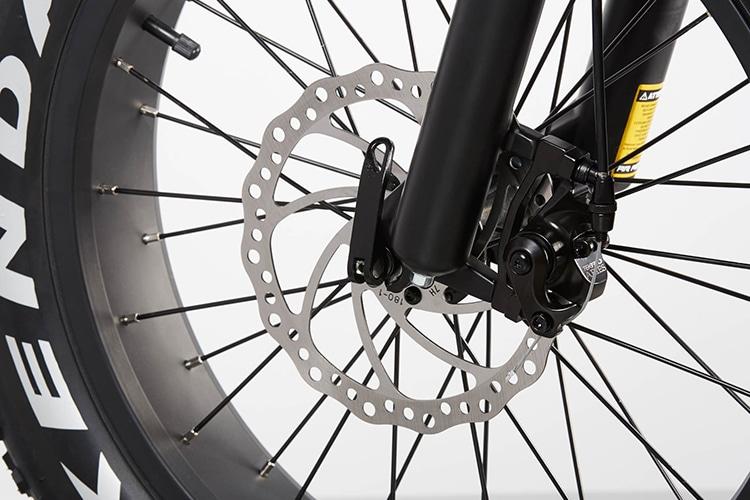 radmini electric folding fat bike brake show
