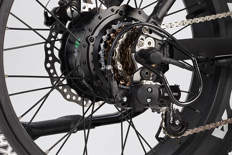 radmini electric folding fat bike chain facility