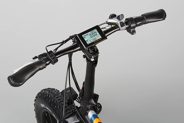 radmini electric folding fat bike handle