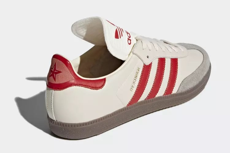 heel view classic samba shoe