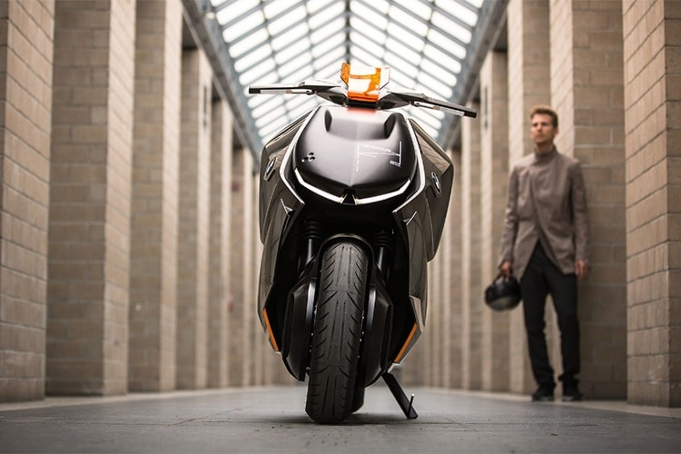 bmw motorrad concept link motorcycle front