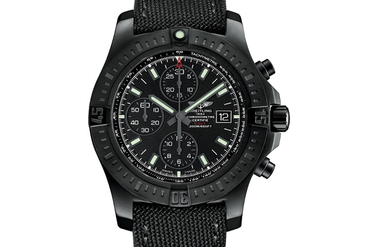 breitling colt chronograph automatic black steel