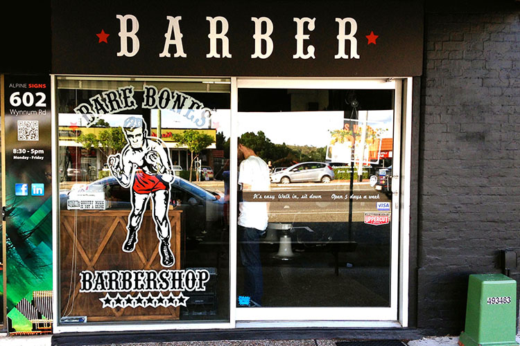 bare bones barber shop