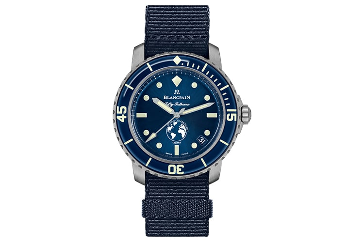 blancpain ocean commitment iii rubber band watch