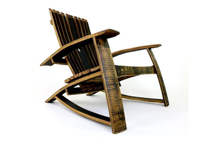 bourbon barrel side view chair