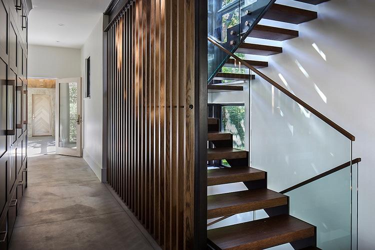 chickadee house hallway and staircase