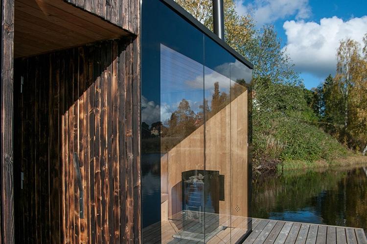 floating sauna corridor and open area
