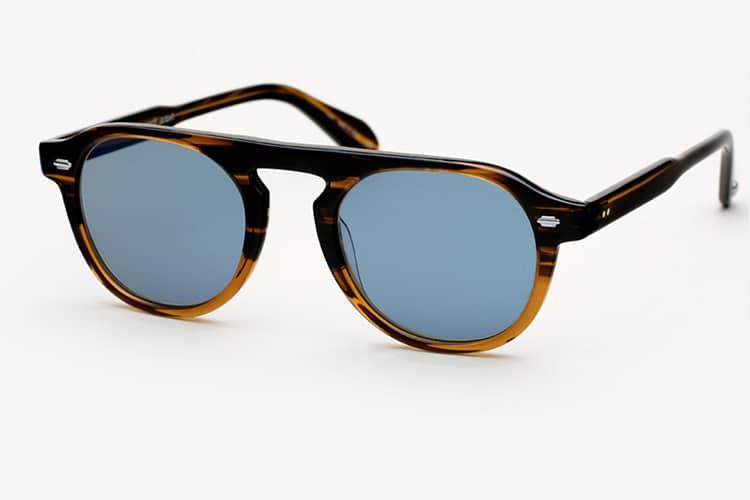 garrett leight x nick wooster sunglasses temple