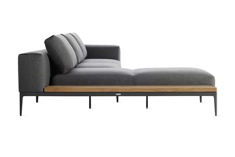 grid sofa side view