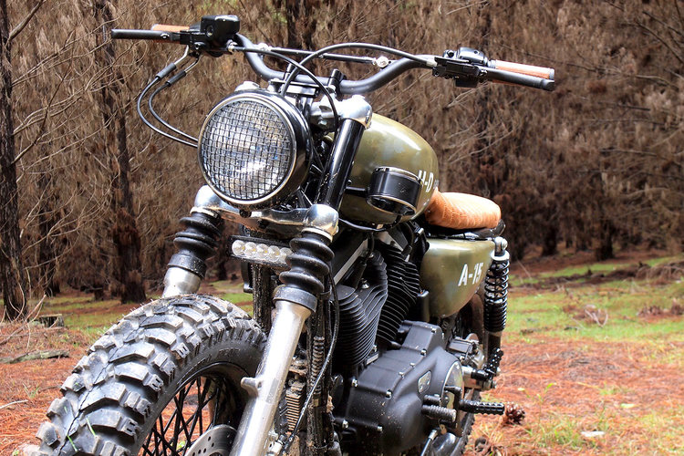 harley davidson a15 scrambler motorcycle front