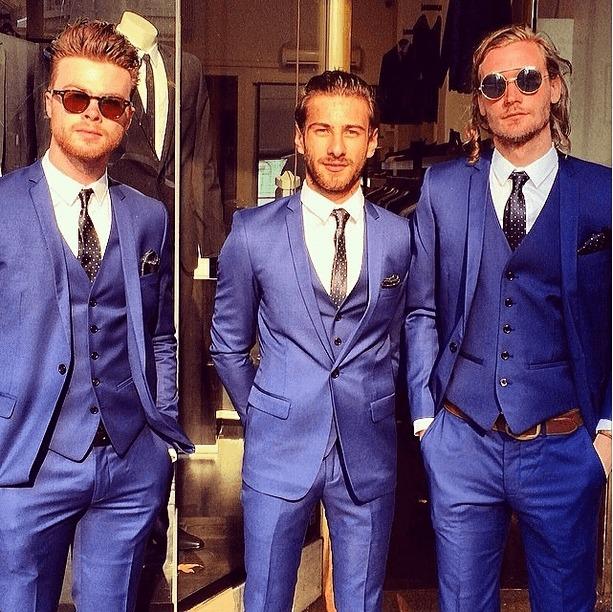 jack london 3 man blue suit