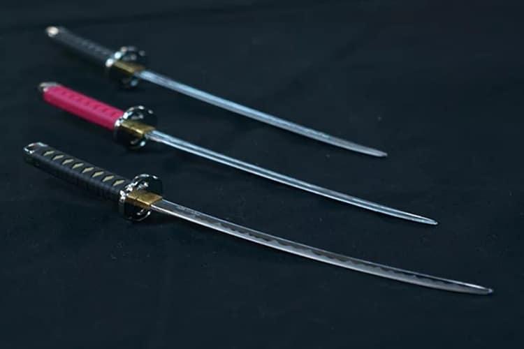 miniature samurai sword letter opener