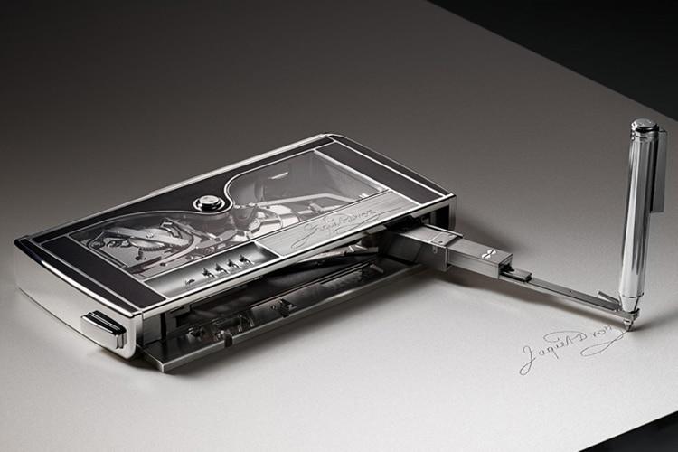 jaquet droz signing machine