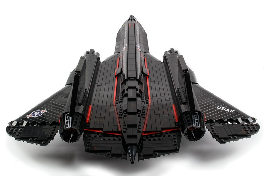 lego sr 71 blackbird back view