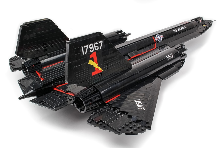 lego sr 71 blackbird design