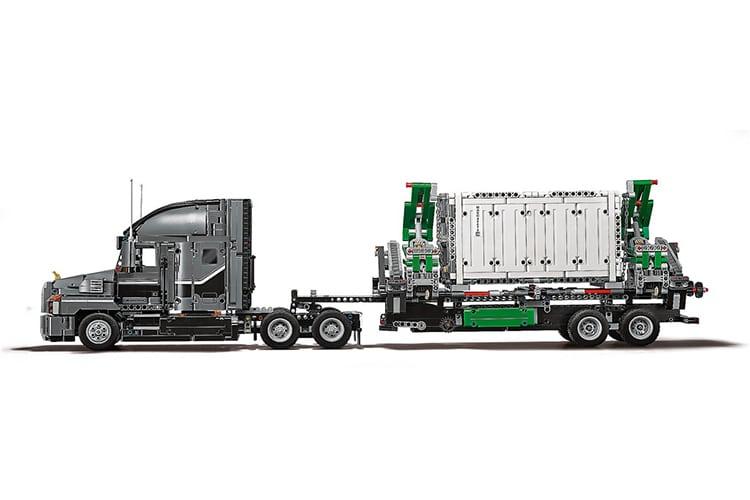 lego technic mack truck engine and body