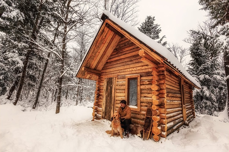 Log cabin timelapse build takes off grid seriously man for How to build a one room cabin