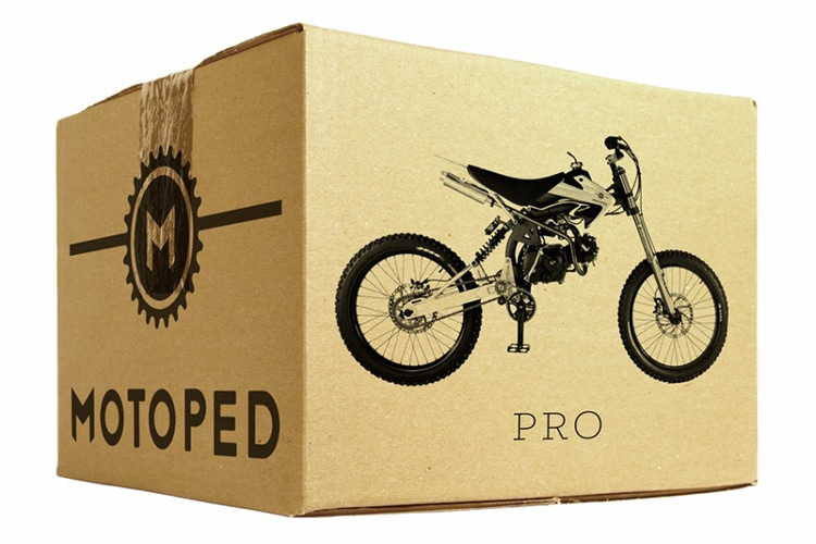 motoped pro motorcycle in the packet