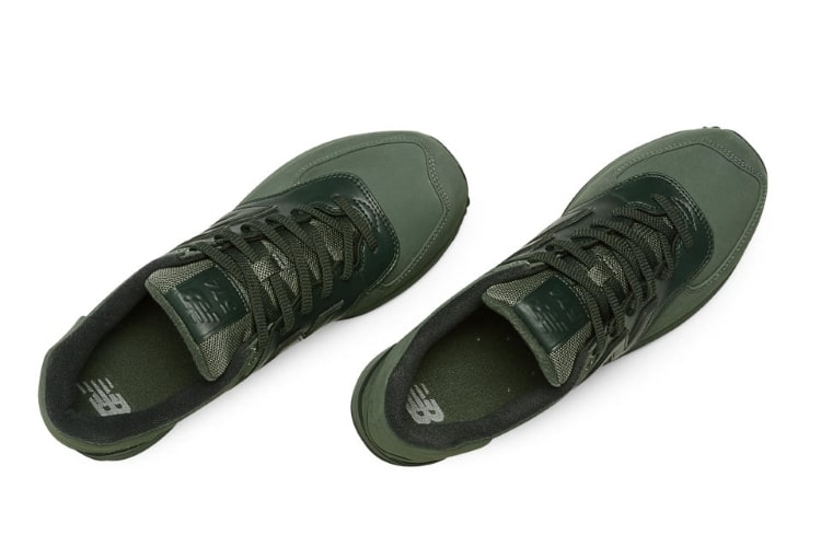new balance 574 shoe military green feature