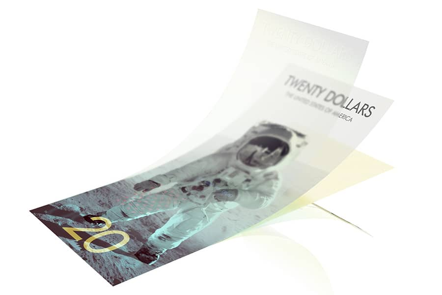 us dollar thin layer concept - twenty