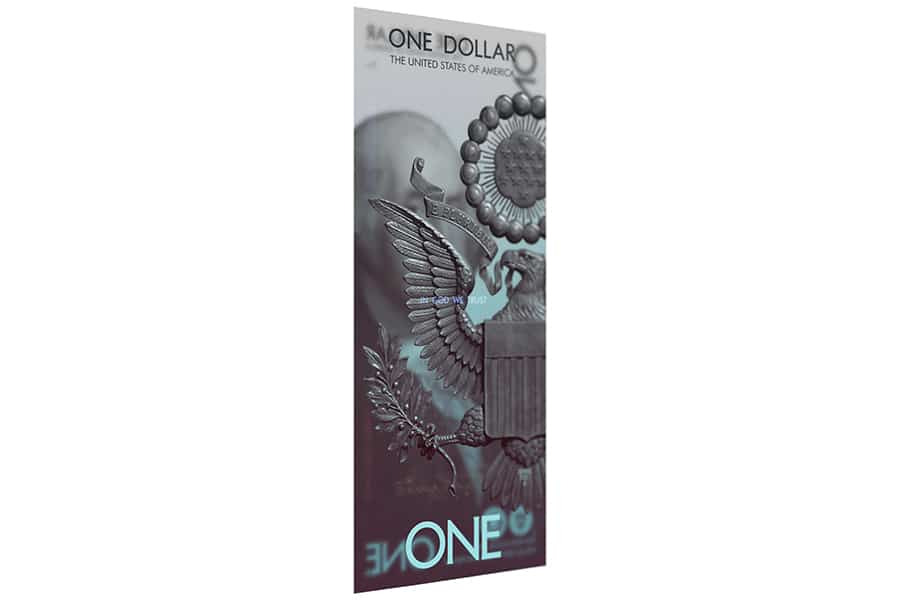 us dollar side view concept - one dollar