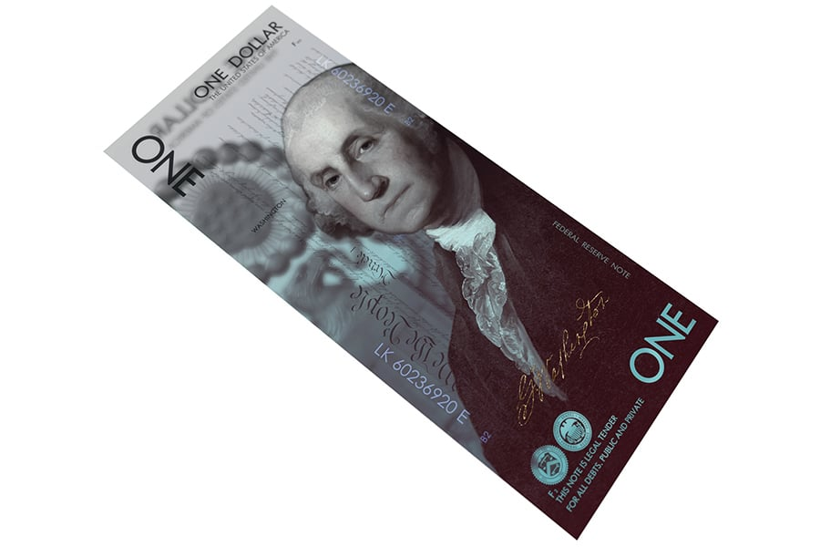One US Dollar New Concept