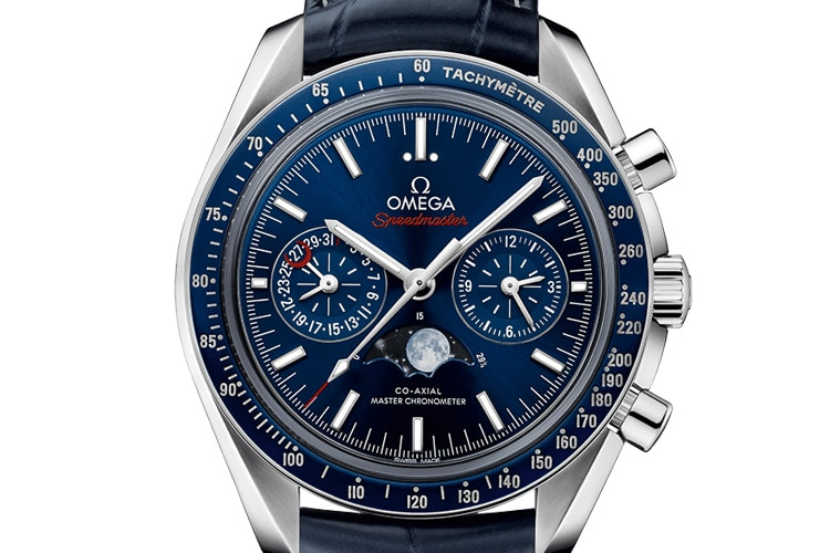 omega speedmaster moonphase chronograph watch