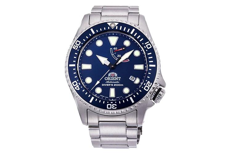orient triton watch blue