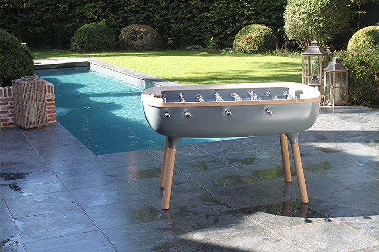 pure outdoor foosball table side