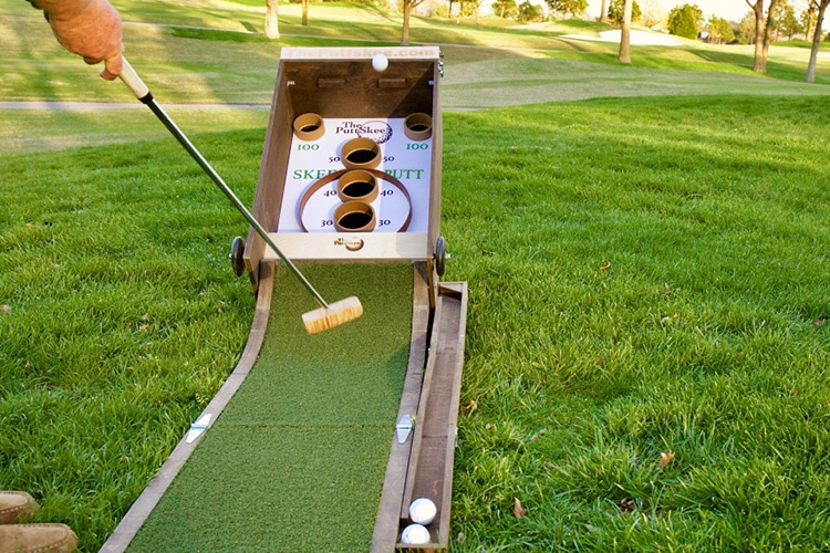 puttskee skee ball golf game