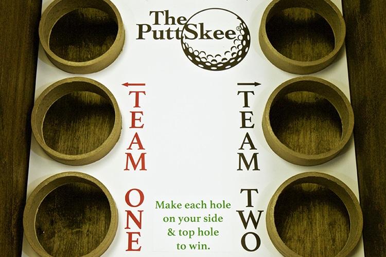 the puttskee skee ball golf game team