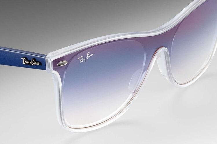 ray ban blaze wayfarer sunglass transparent blue